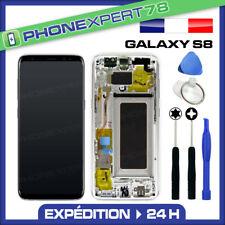 VITRE TACTILE ECRAN LCD ORIGINAL SUR CHASSIS SAMSUNG GALAXY S8 ARGENT GRIS G950