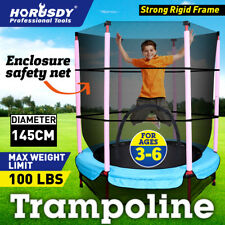 4.5ft Kids Trampoline Round Indoor Outdoor Junior Enclosure Safety Net Jumping