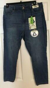 D. Jeans Medium Sage(Med. Blue) Recycled Vintage Denim Ankle Jeans Size 18W NWT