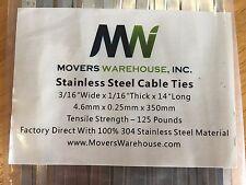 "500ea - 14"" Stainless Steel 304 Self-Locking Cable Ties"