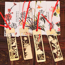 4Pcs/Set Chinese Traditional Metal Bookmark Note Memo Clip Paper Marker