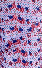 "5 yds 7/8"" Red White Blue Patriotic Waiving American Flags Grosgrain Ribbon"