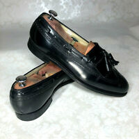 Florsheim Imperial Mens Black Leather Kiltie Tassel Loafers Sz 10.5 D USA Made