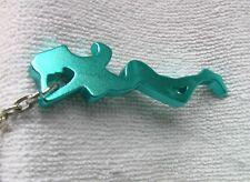 Schlüsselanhänger: BLAUE DAME - Gesamtlänge  ca. 11,5 cm