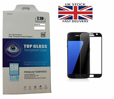 Genuine Full 3D Curved Tempered Glass Screen Protector Samsung Galaxy S7 Black