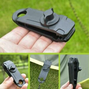 10Pcs Awning Clamp Tarp Clips Snap Hangers Tent Camping Survival Tighten Z87Y