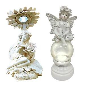 Solar Powered Led Garden Fairy Angel Light Statue Outdoor Decoration Ornament