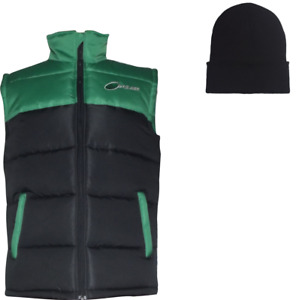 PULSE ADULT WINTER WARM BODY WARMER GILET GREEN AND BLACK + FREE BEANIE HAT!