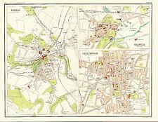 1898 Street Level Maps of BUXTON, CHELTENHAM & WARWICK