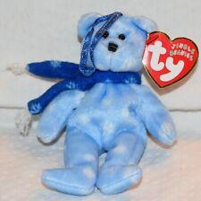 Ty Beanie Jingle Blue Bear White Snowflakes 1999 Christmas Ornament