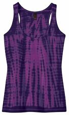 Ladies Tie Dye Yoga Racerback Style 100% Cotton Tank Top