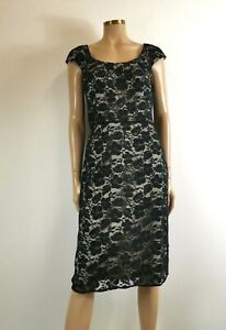 Adriana Papell Lace Cocktail Dress UK 12