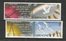Gibraltar 1995 Europa Paix et Liberté SG, 740-743 U/mm N/H Lot 4449 A