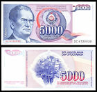 YUGOSLAVIA - 5000 Dinara Mareshal Tito 1985 FDS UNC