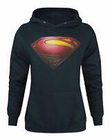 Superman Man Of Steel Logo Women's Hoodie