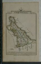 1814 Antique Map of Cornwall  by John Cary