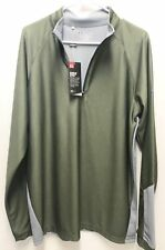 Under Armour UA Golf Outerwear Pullover Half Zip Green Grey Large Long Sleeve