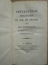 FREDERIC II / Prince de Ligne : INSTRUCTION MILITAIRE et SECRETE, 1821/23. 4 pl.