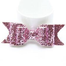 Sweet Women Girls Glitter Hairpin Bowknot Barrette Crystal Hair Clip Bow Gift TR