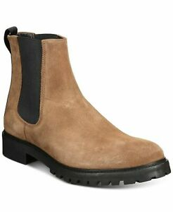 Hugo Boss Men Explore Chelsea Boots Medium Brown Suede Leather SIZE 11M NIB