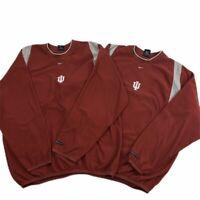 Indiana Hoosiers IU NIKE therma fit fleece sweatshirt Men's Small Lot Of 2 GUC