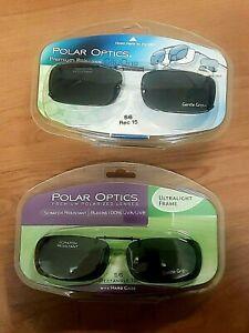 Polar Optics (Solar Shield) Clip-On Polarized Sunglasses 56 Rectangular 56x32mm