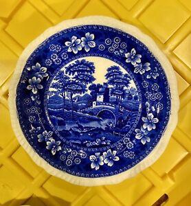 "Vintage Copeland Spode's Tower England Blue & White China Salad Plate 7.75"""