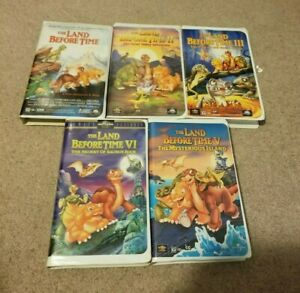 1-5 THE LAND BEFORE TIME VHS Dinosaur Movies Cera Spike Littlefoot Ducky Petrie