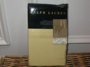 Ralph Lauren LUXURY OXFORD Yellow King Pillowcases NIP