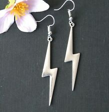 Thunder Storm Lightening Dangle Earrings Silver Plated