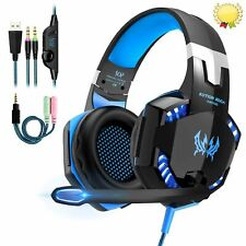 3.5mm Gaming Headset MIC LED Headphones for PC Laptop PS4 Slim Pro Xbox One S