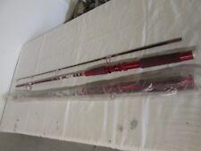 2 Vintage Nos Bma S601C Spin Rods 6' Red/Silver Color 2 Pieces