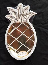 8 LUCIDO ORO Ananas festa piatti Tropicale Hawaiano Festa Tema bella qualità