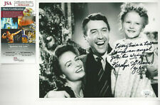 ZUZU  autographed 8x10  photo from It's a Wonderful Life Great Inscription JSA *