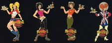 Hard Rock Cafe London 2001 Sexy Waitress 30th Anniversary 4 Pins Boxed 30 Years