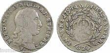 Italie- Naples (royaume de), 20 Grana, Ferdinand IV, 1798 - 27