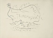 Pablo Picasso - Cover from La Tauromaquia - Original Drypoint Etching, Framed!