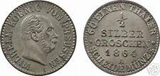 Allemagne, Prusse, Guillaume Ier, 1/2 silbergroschen argent, Berlin, 1864! - 3