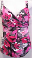 7750     PLUS SIZE 1 PC PINK FLORAL  SWIMSUIT SIZES AVAILABLE 16W 20W