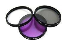 Polaroid Optics 55mm 3 Piece Camera Lens Circular Filter Set (UV, CPL, FLD)