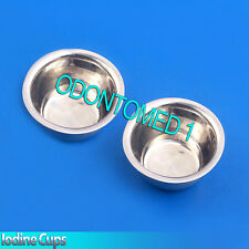 2 Iodine Cups Gynecology Surgical Medical Dental Medicine Stainless Steel