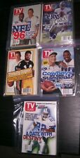 DALLAS COWBOYS ON COVER 5 ASSORTED COLLECTIBLE TV GUIDES - RARE