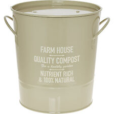 Taupe Farm House  Vintage Style Ice Bucket Wine Cooler Thermal Lined BG London