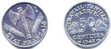 50 CENTIMES BAZOR 1942 . ALUMINIUM . SPL .