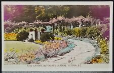 RPPC 1915-30 REAL PHOTO PC - Rose Garden, Butchart's Gardens, Victoria, B.C.