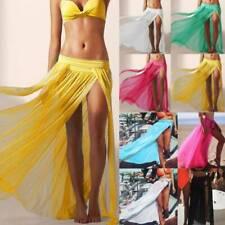 Women's Bikini Cover Up Swimwear Summer Beach Maxi Wrap Skirt Sarong Pareo Dress