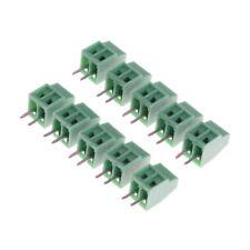 10pcs 2 Poles KF128 2.54mm PCB Universal Screw Terminal Block FT