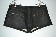 Doma, Mini Short, Washed Lamb Leather, Black, Large, Zipper Front Pockets, Lined