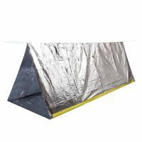 Tente de survie Camping Refuge d'urgence Sports en plein air Argente L3O9 3M