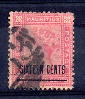 Mauritius 1883 16c on 17c SG112 fine used WS11511
